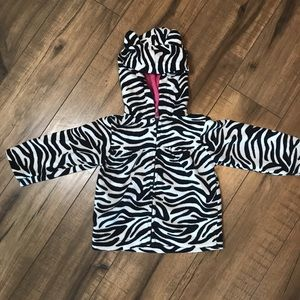 Carter's Zebra Zip Up hoodie with ears, 12 months